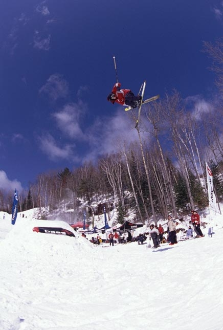 Fakie 720 at the D-Structure Ski Jam, 2003