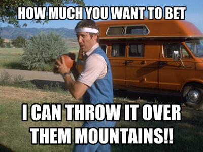 Image result for i can throw a pigskin a quarter mile