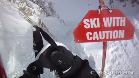 Ski with caution