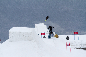 Banked Slopestyle at the Crans-Montana Spring Session 2014