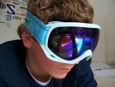 oakley blue iridium goggles
